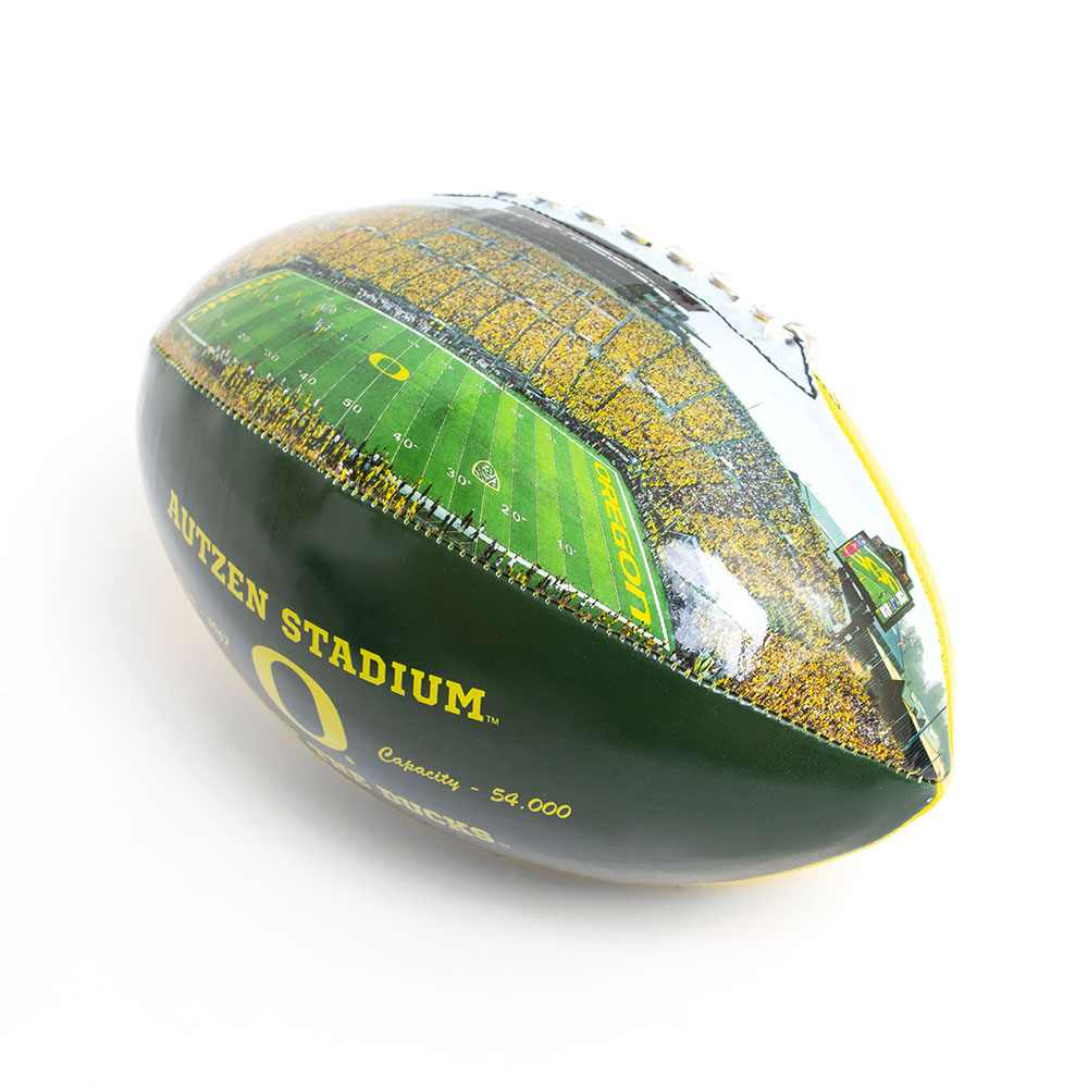 Classic Oregon O, Autzen Stadium, Autograph, Football, Graphic