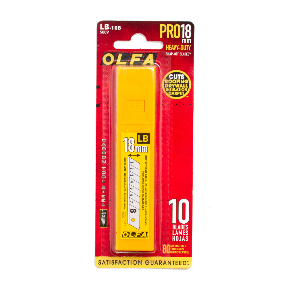 Olfa, Heavy-Duty, Snap-Off, Blades, 5009, LB-10B