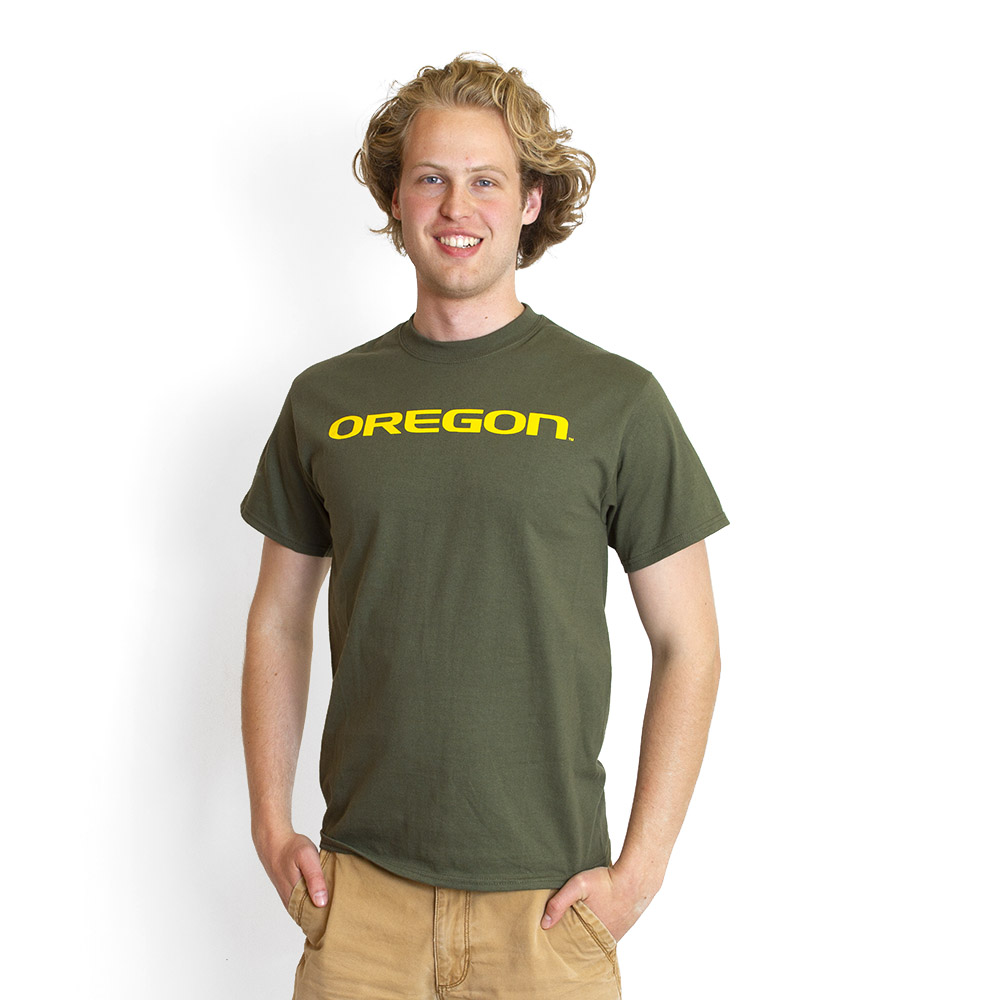 Oregon, Basic, Short Sleeve, Printed, T-Shirt