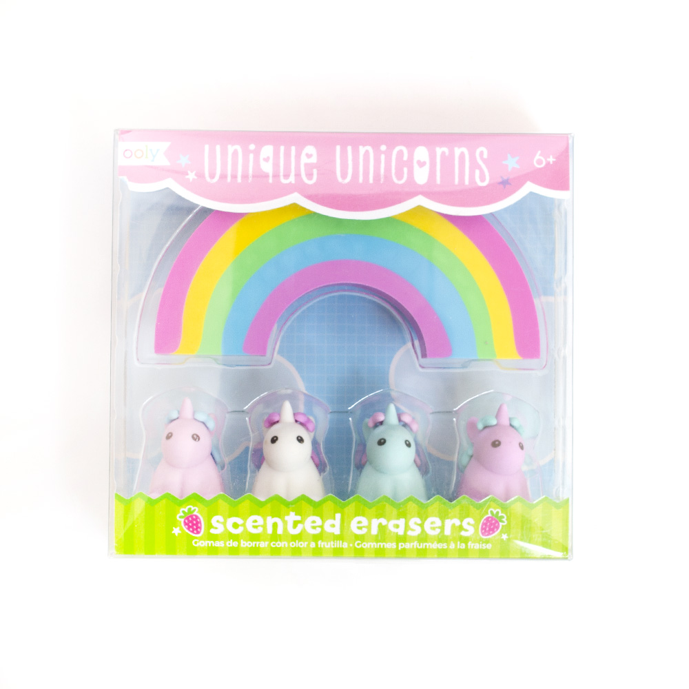 Ooly, Unicorn, Eraser, 5 count