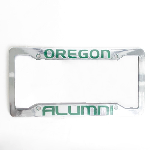 Oregon Alumni Plastic Chrome License Frame