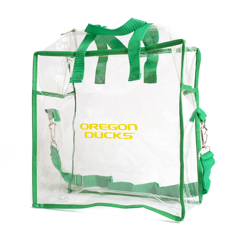 Oregon Ducks, Green, Clear, Stadium Tote