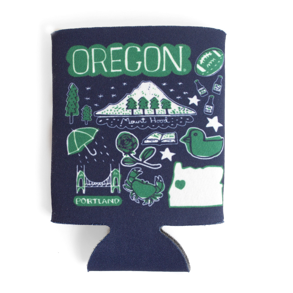 Julia Gash, Oregon themed, Can Koozie