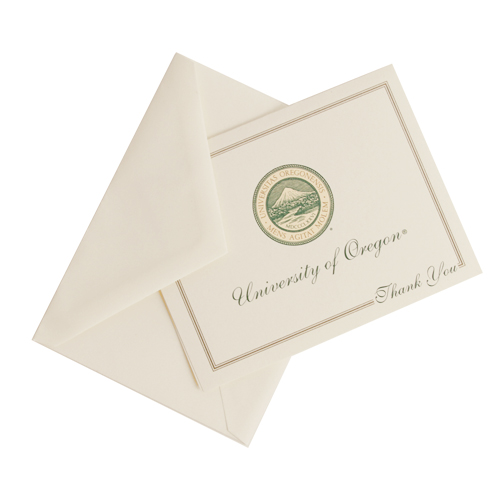 Overly, University of Oregon Seal, Thank You, Notecard