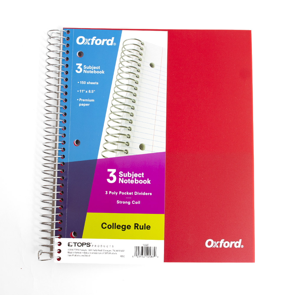 Oxford, Poly Cover, Notebook, 3 Sub