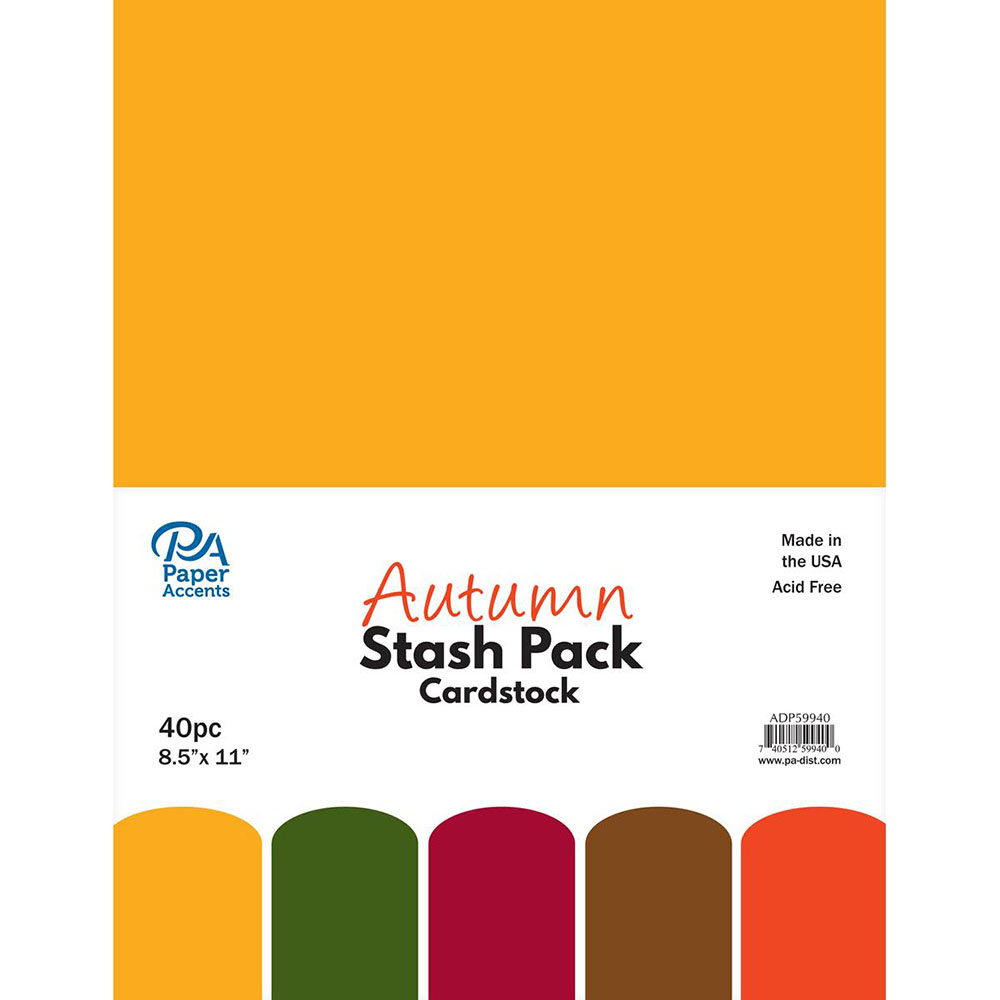 Paper Accents, Cardstock, Autumn, 40 piece