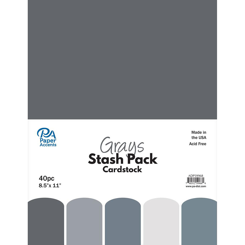 Paper Accents, 40 piece, Grey