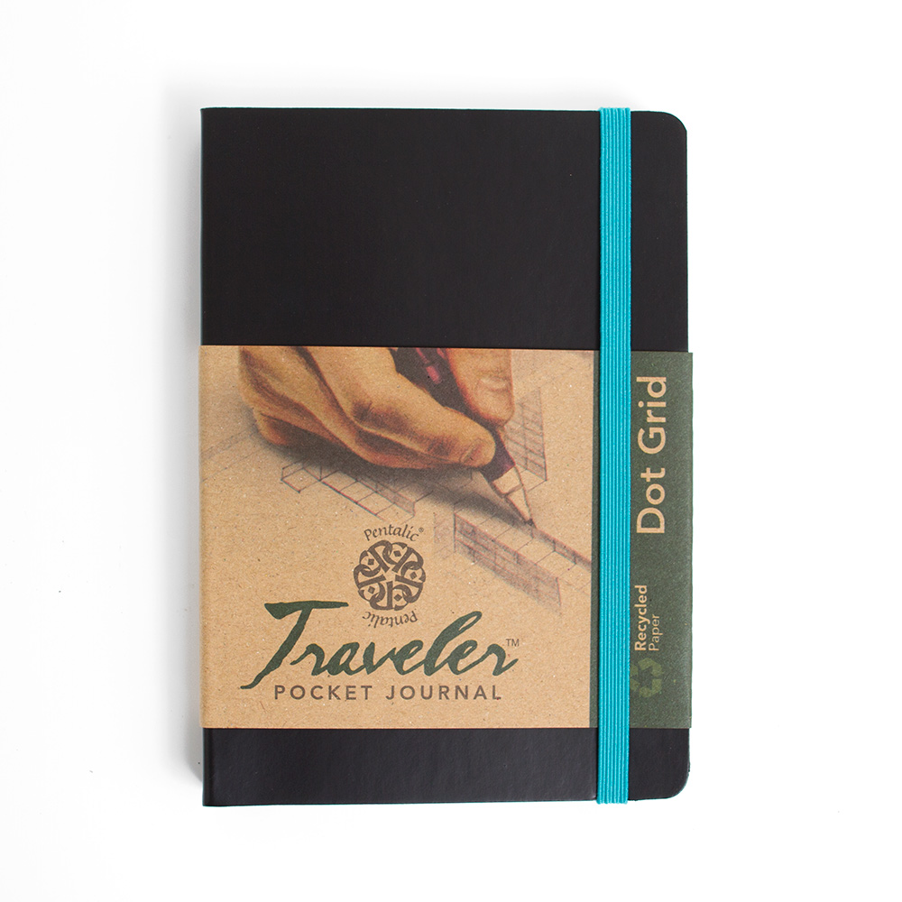 Pentalic Traveler Journal 6x4-In Dot Grid_Black