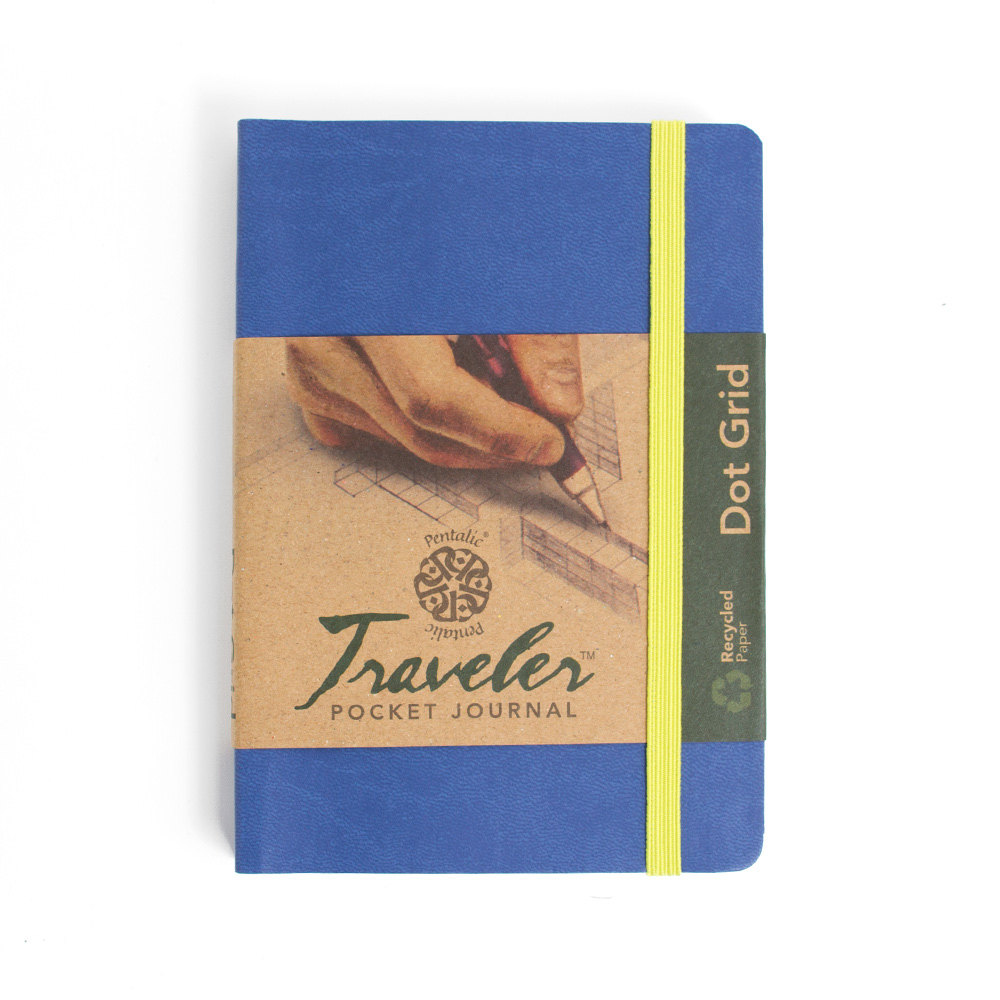 Pentalic Traveler Journal 6x4-In Dot Grid_Denim