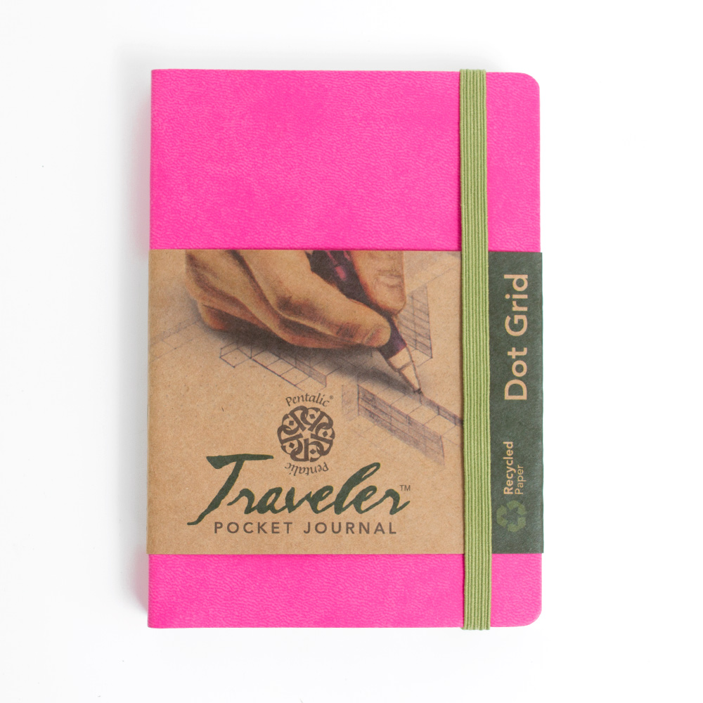 Pentalic Traveler Journal 6x4-In Dot Grid_Pink
