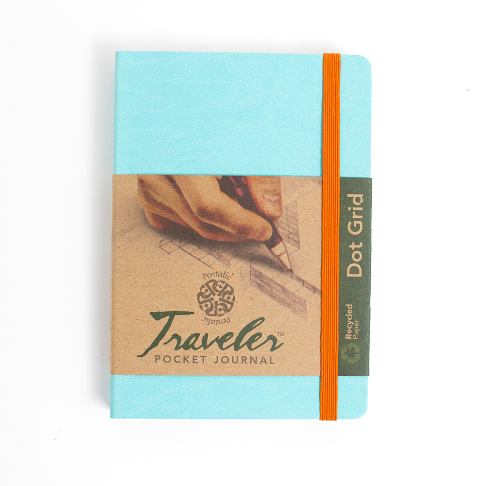 Pentalic Traveler Journal 6x4-In Dot Grid_Turquoise