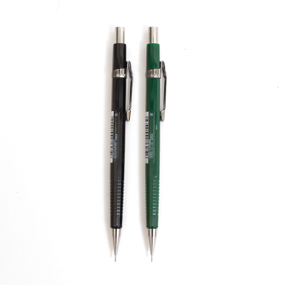 Pentel, Mechanical, Pencil, 0.5mm, Black or Green