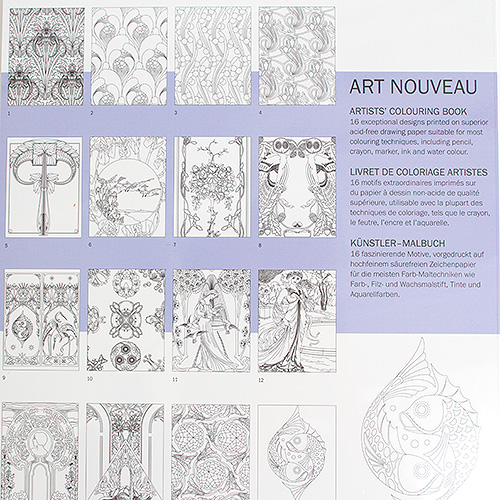 Pepin Coloring Book Art Nouveau