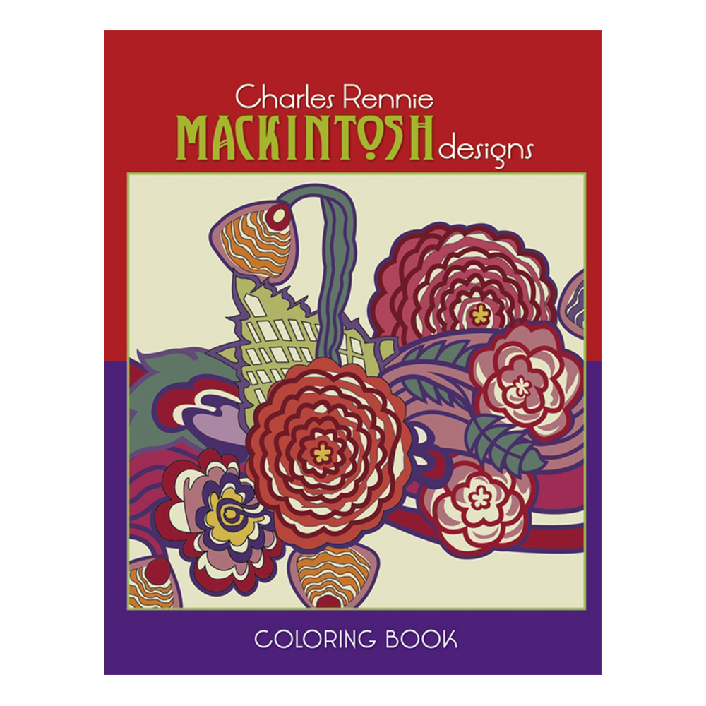 Pomegranate, Coloring Book, Charles Rennie Mackintosh