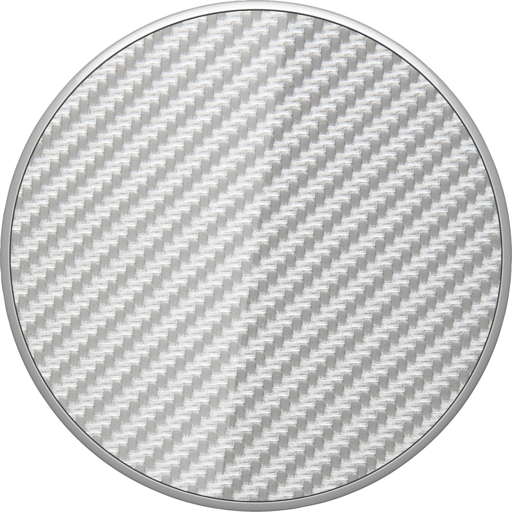 PopSocket, Deluxe, Swappable, PopGrip, Carbon Fiber Silver