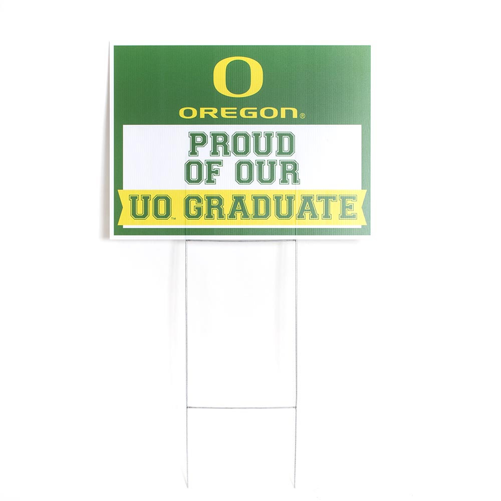 Classic Oregon O, Oregon, Graduation, Yard Sign