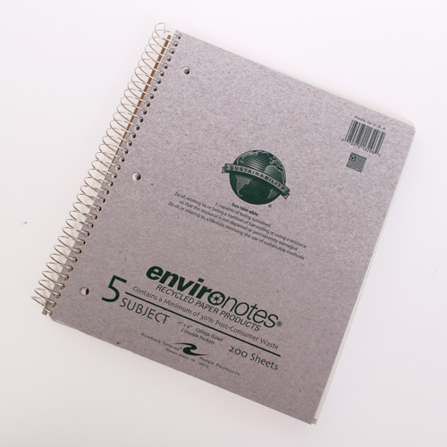 Roaring Springs 5 Subject Recycled Spiral Notebook
