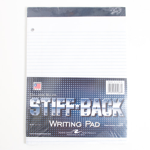 Roaring Springs Legal Pad Hard Cover_White