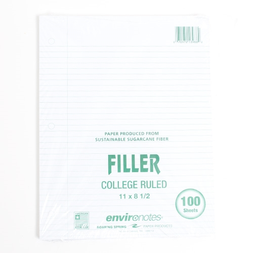 Roaring Springs Recycled Filler Paper 100ct