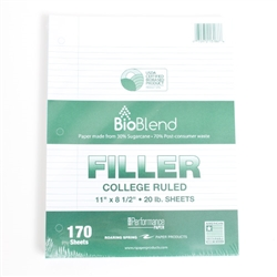 Roaring Springs Recycled Filler Paper College 170ct