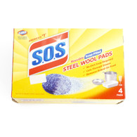 S.O.S., Steel Wool, Pad, 4 Count