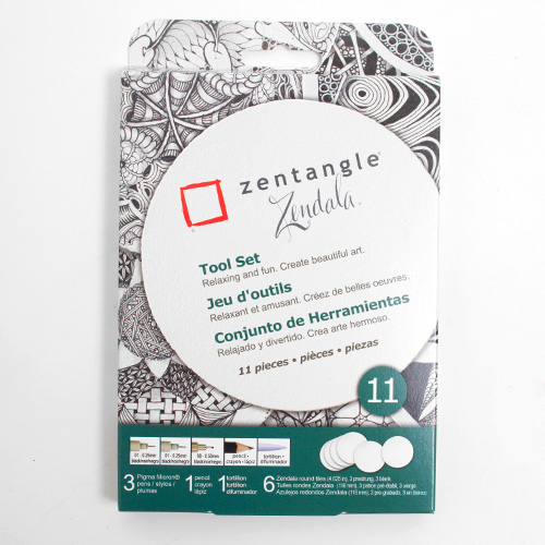 Sakura Zentangle Round Tile 11pc Set