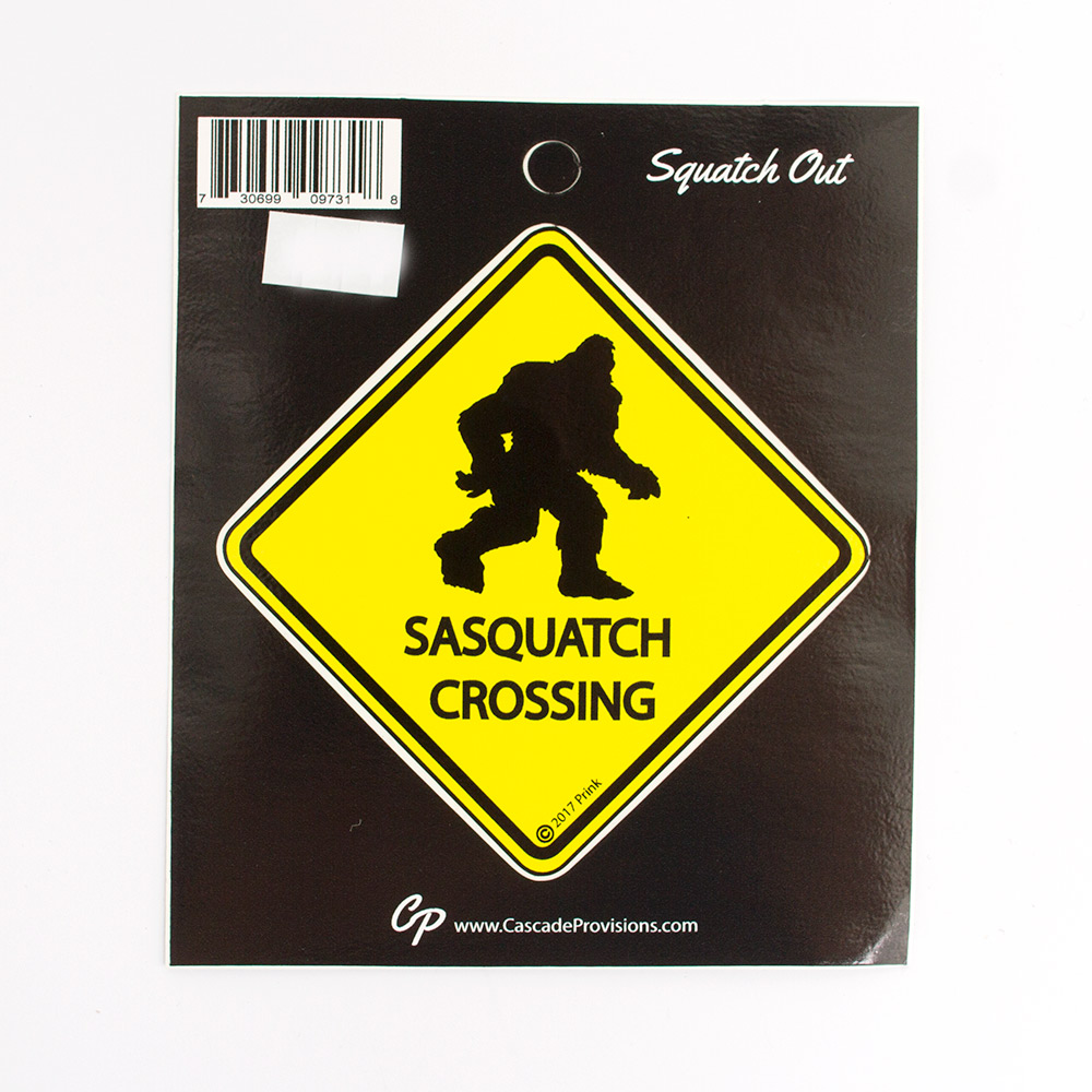 Sasquatch Crossing Sticker