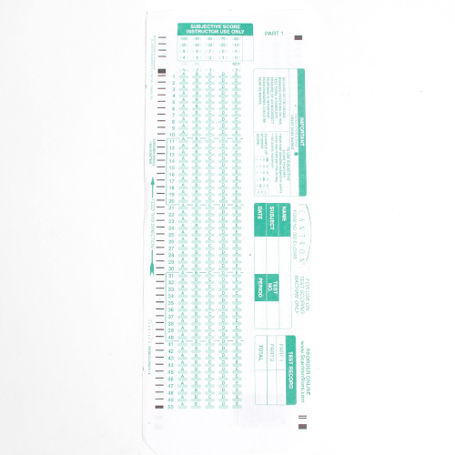 Scantrons Testing Form