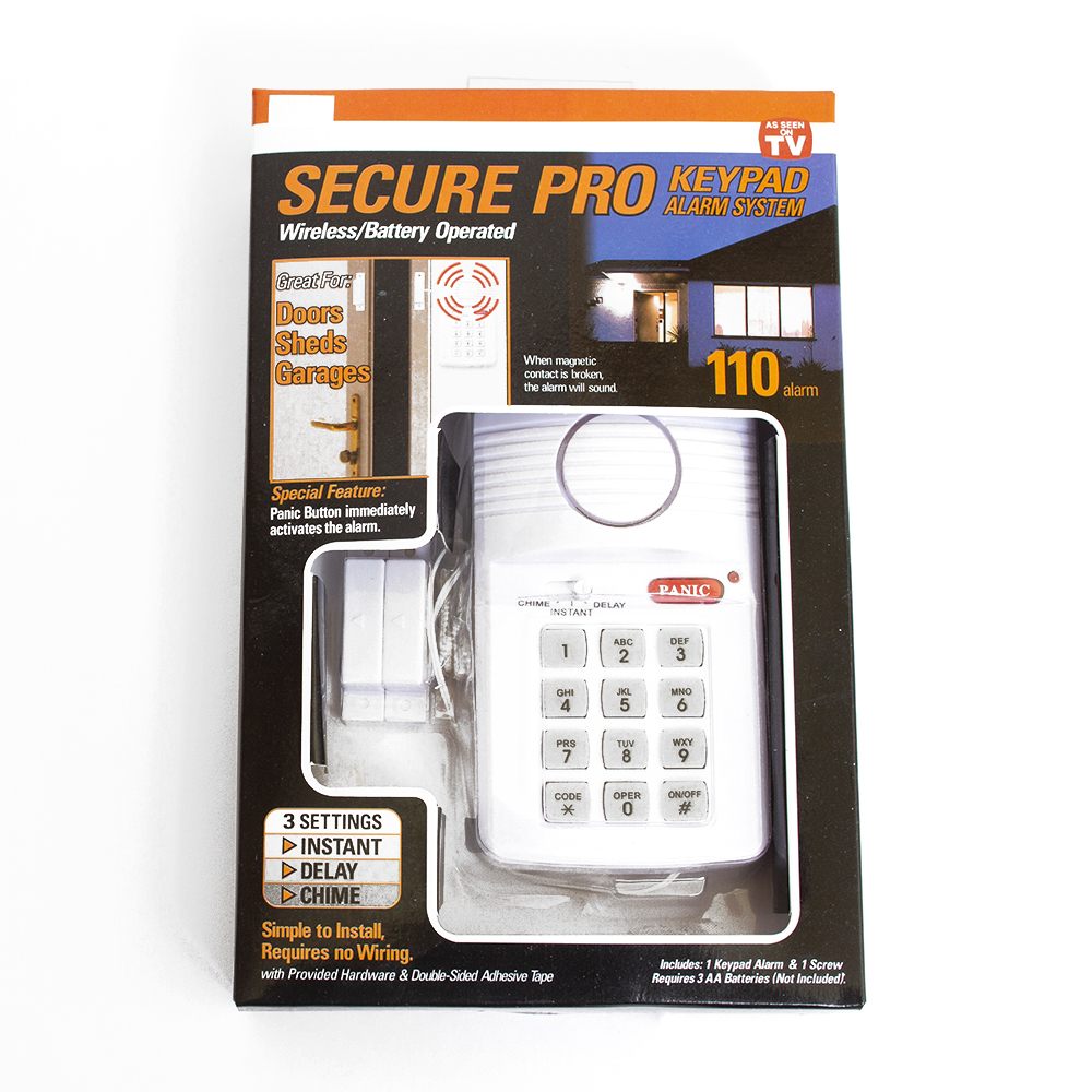 Security Alarm, Wireless Keypad, 100dB