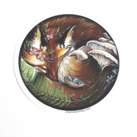 Shanna Trumbly, Vinyl, Sticker, Round, Fox