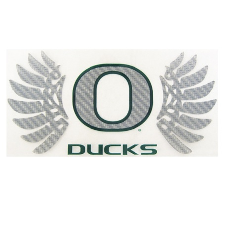 Classic Oregon O, WINGS, Ducks, Decal, Outside application, 9""