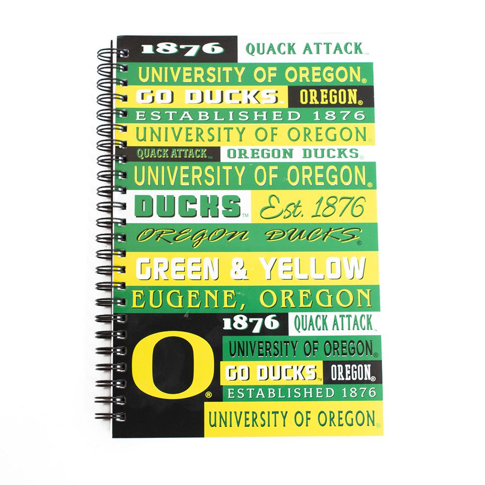 O-logo, Multi-Oregon-logo, Spirit, Notebook, Spiral
