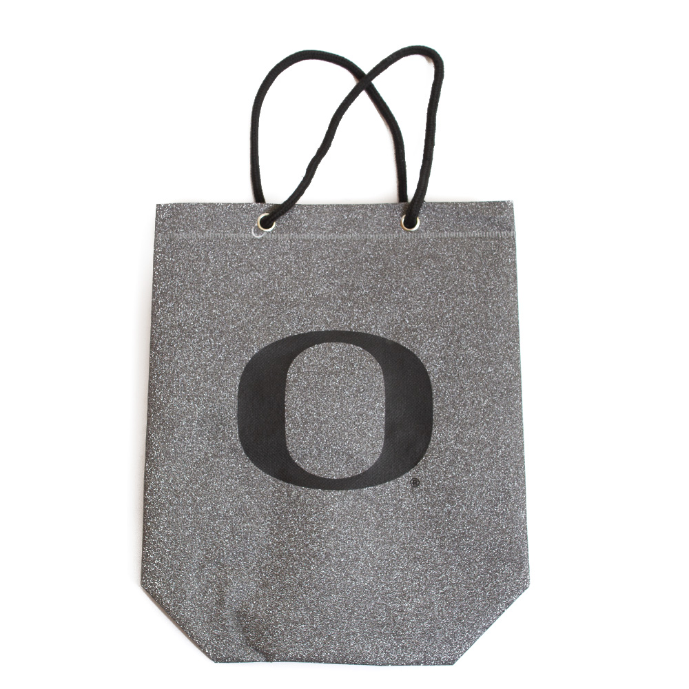 "Classic Oregon O, Gift Bag, Glitter, 9""x10"""