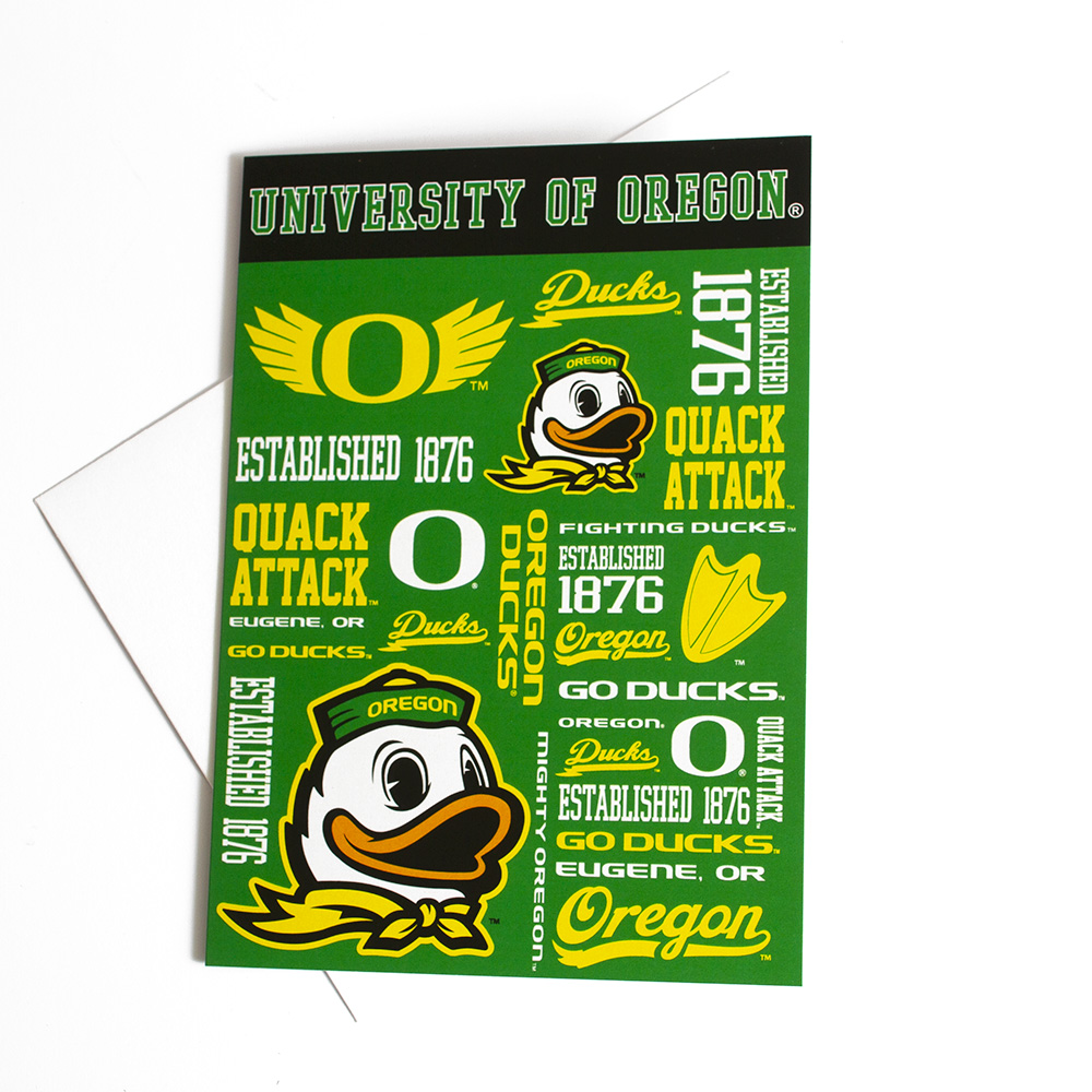 O-logo, Spirit, Oregon, Greeting Card