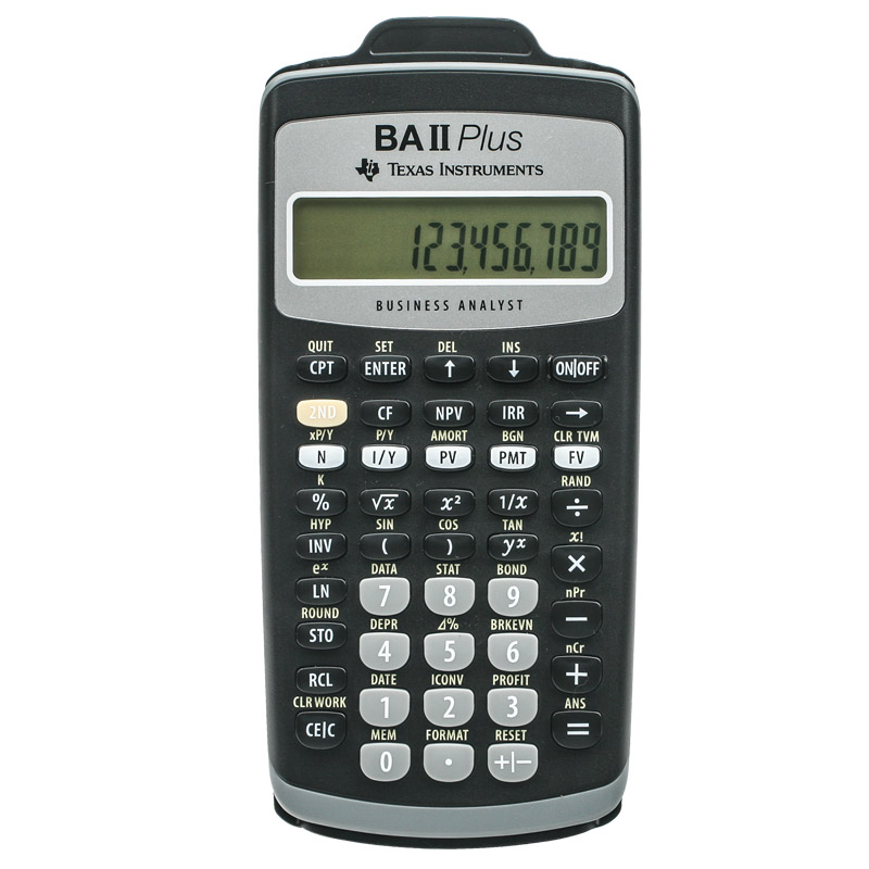 Texas Instruments, TI-BAII Plus, Financial, Calculator