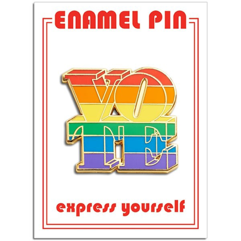 The Found, Enamel Pin, Novelty, Vote (Rainbow)