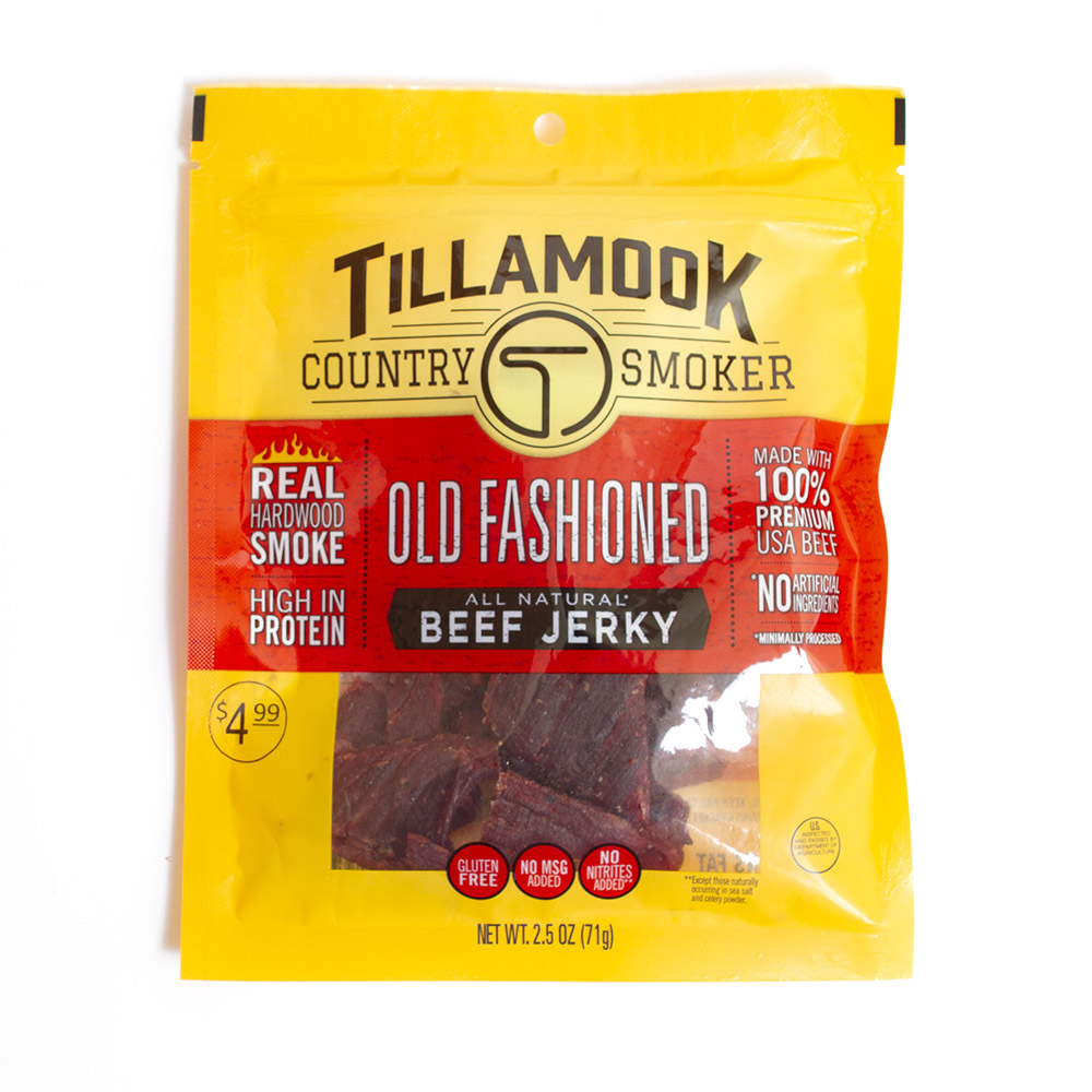 Snack, Jerky, Tillamook Country Smoker, Beef, Old Fashioned