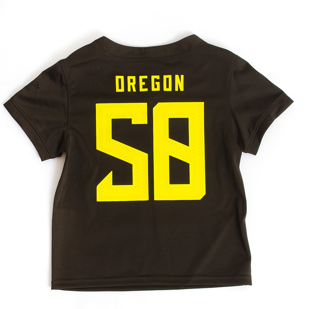 Classic Oregon O, Toddler, Nike, 2020, Replica, Jersey, #58