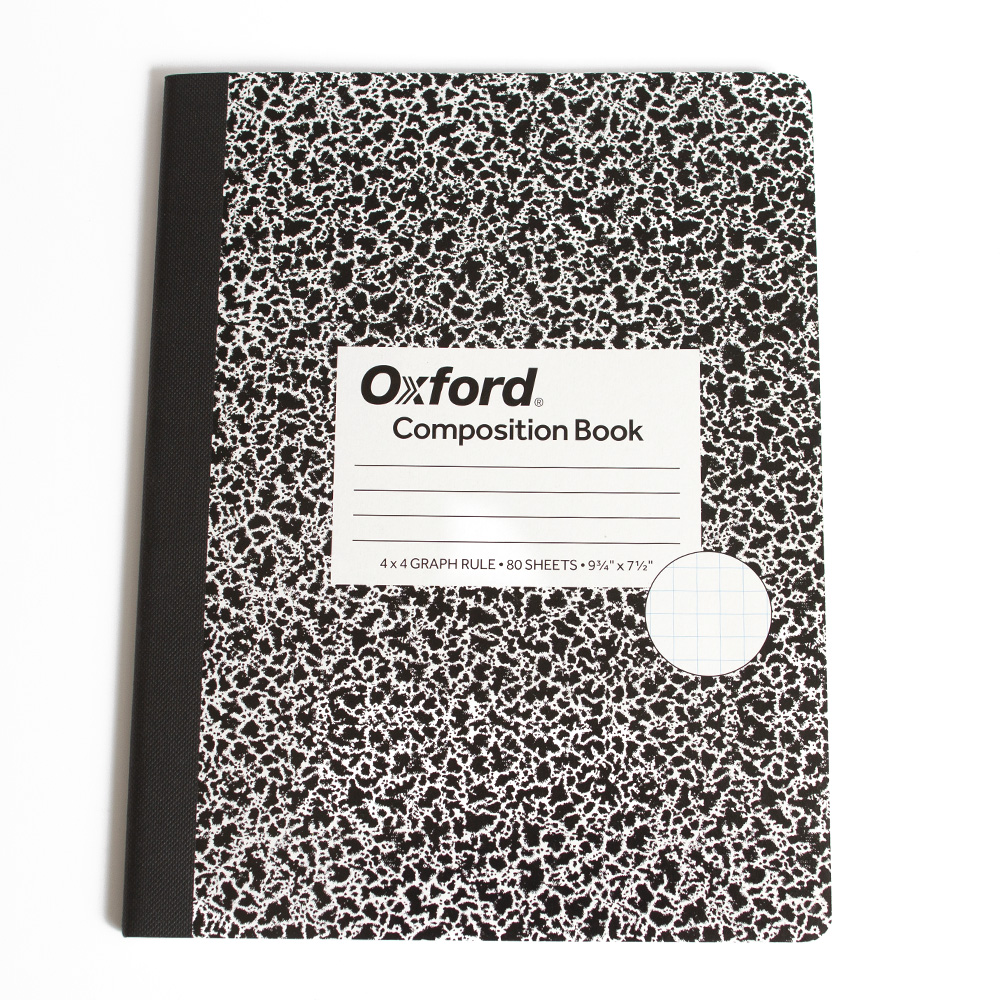 Tops, Composition Book, Quad Rule