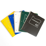 Tops, State of Oregon, 1-Subject, Spiral, Notebook, Double Pocket
