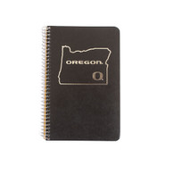 "State of Oregon, Classic Oregon O, Oregon, Tops, Spiral, Notebook, 5""x8"""