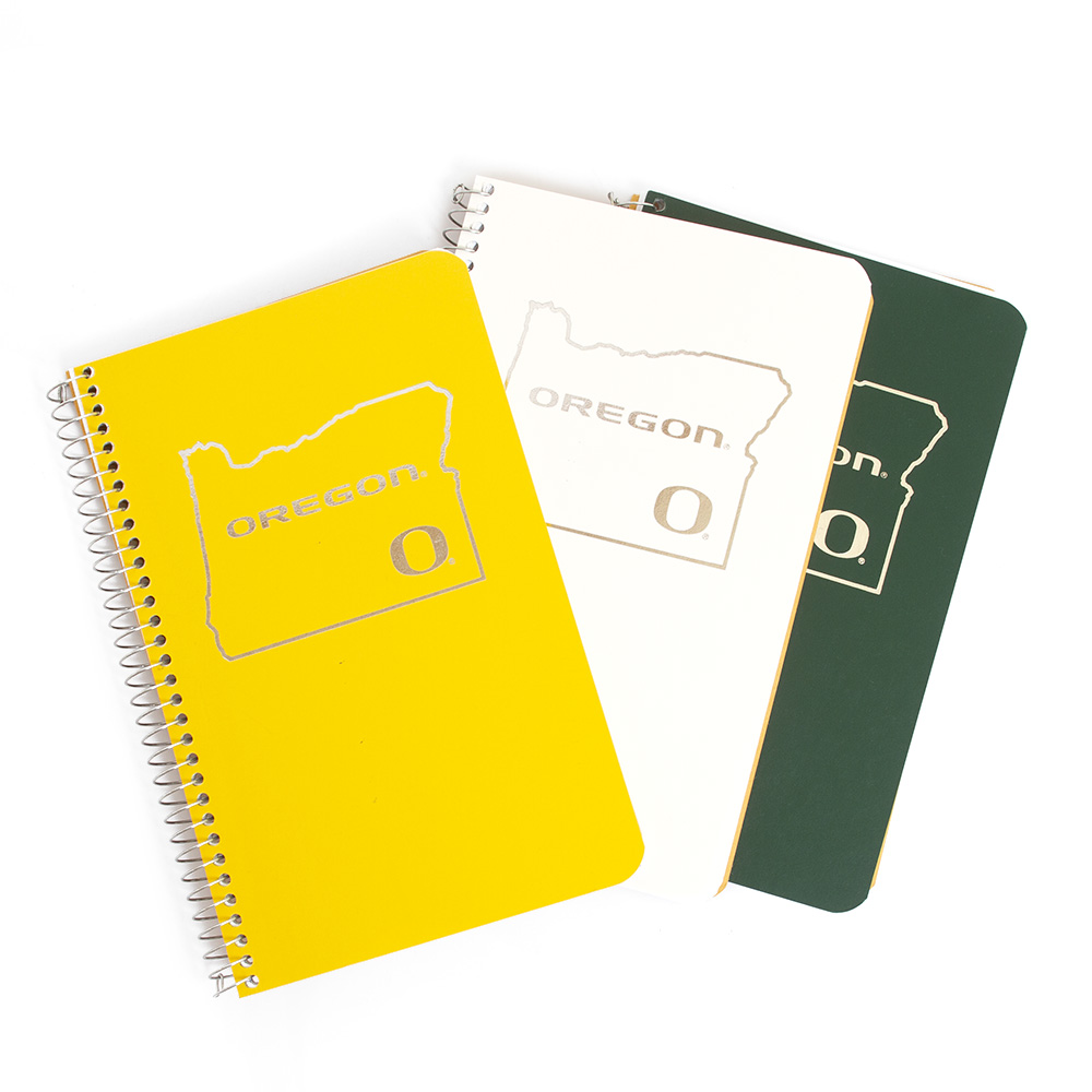 State of Oregon, Classic Oregon O, Oregon, Tops, Spiral, Notebook