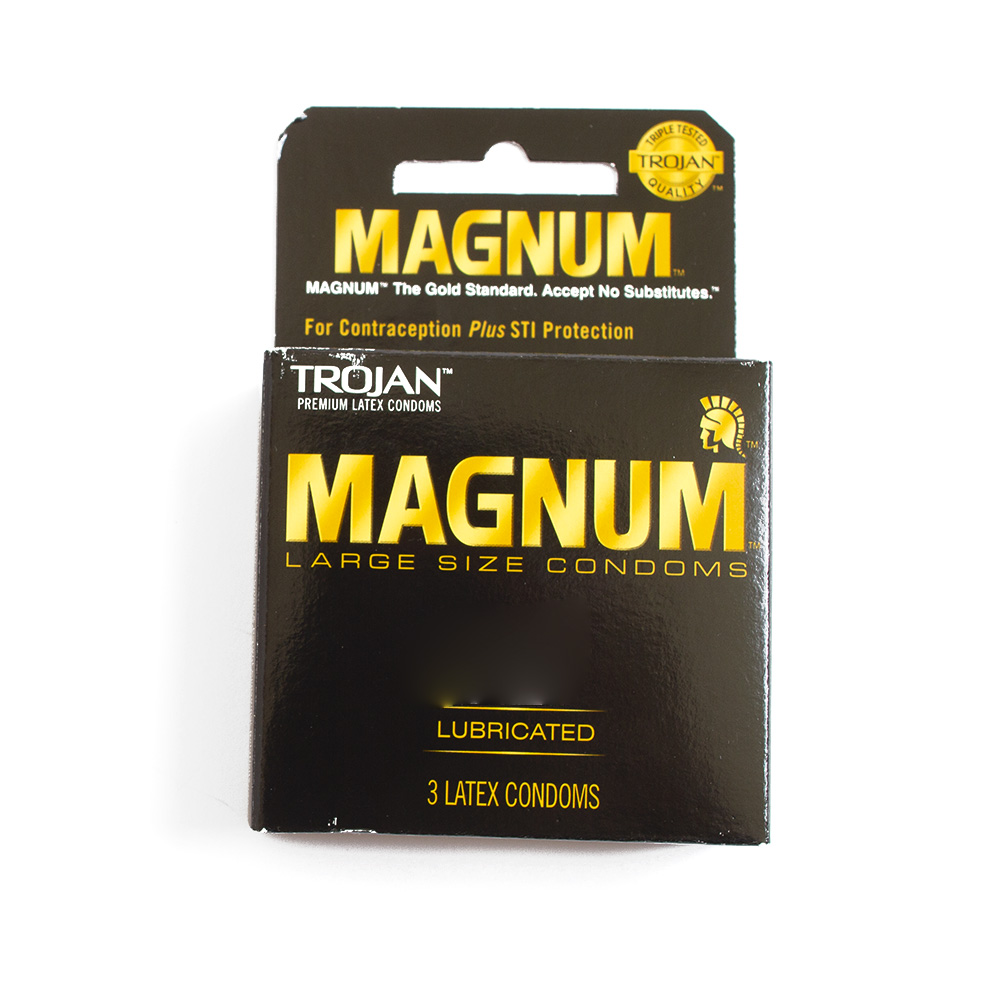 Trojan, Condom, Magnum, Lubricated