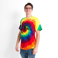 Tye Dye Throwback Cotton w Black DTO Tee
