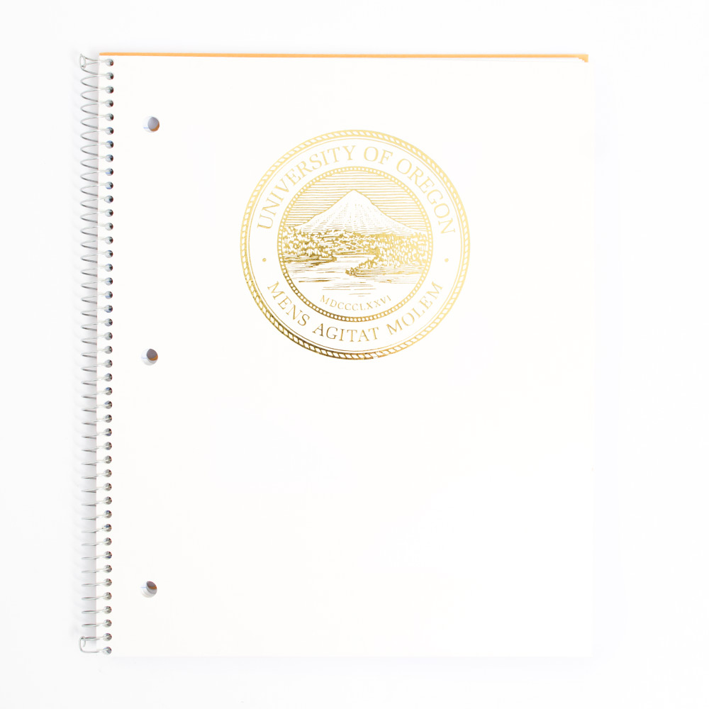 University of Oregon Seal 1 Subject With Front Pocket