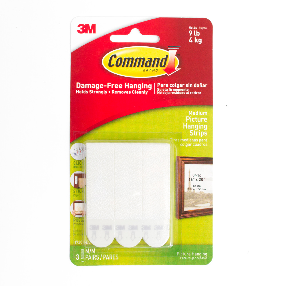 White 3m Command Picture Hanging StripsMedium