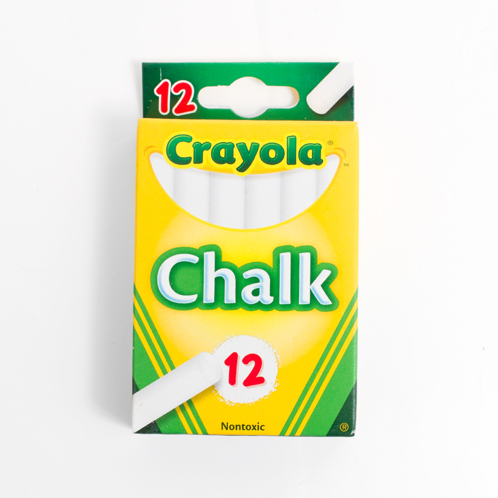 White Crayola Chalk 12 Sticks