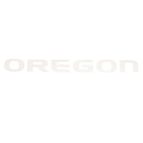 White Oregon Vinyl Transfer Decal - Outside 26 inch