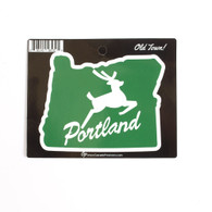 Portland, Stag, Sticker