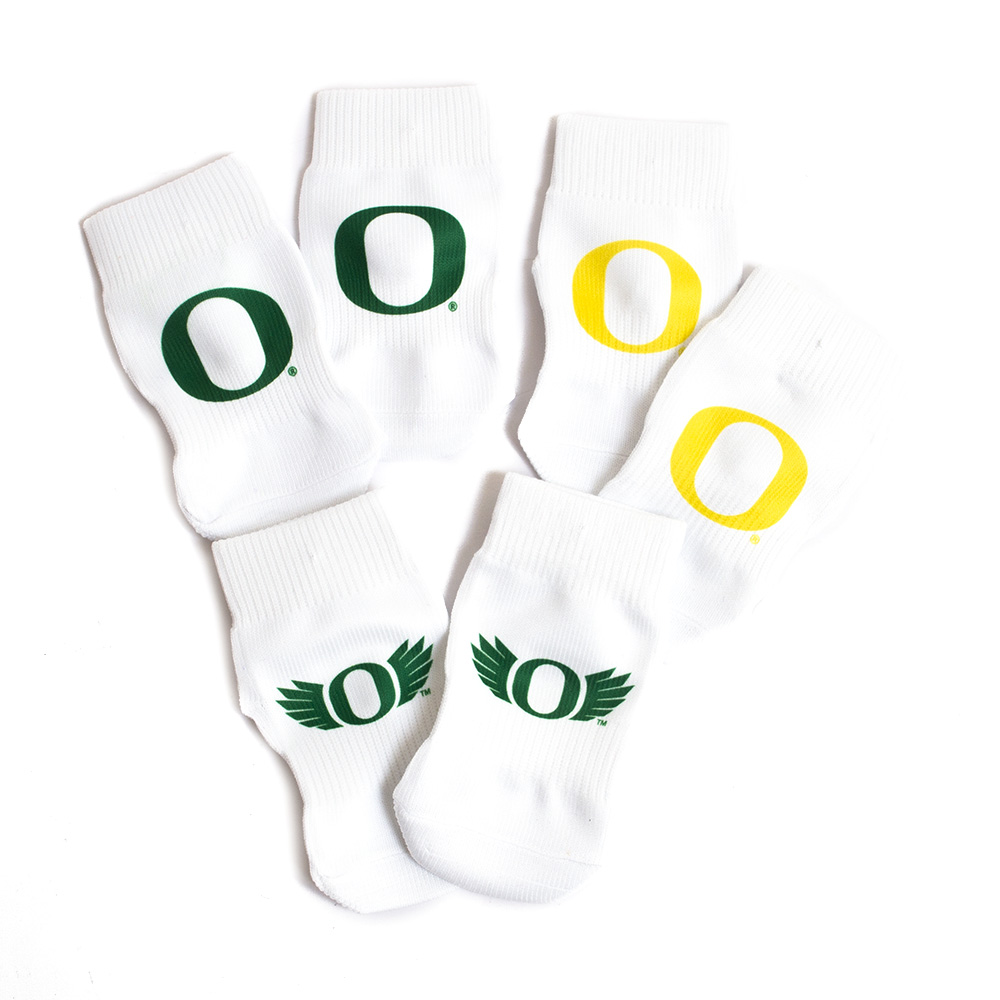 Classic Oregon O, O WIngs, Strideline, Infant, Socks, 3 Piece Set